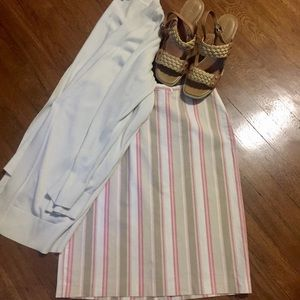GAP Striped Pencil Skirt